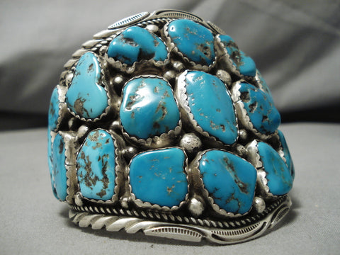 The Best Vintage Native American Navajo Tommy Tso Turquoise Sterling Silver Bracelet Old