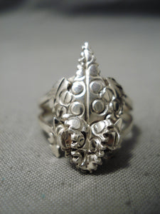 Important Horny Toad Artist Vintage Navajo Sterling Silver Native American Ring