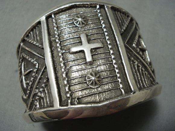 Incredible Navajo Sterling Silver Crosses Bracelet Native American