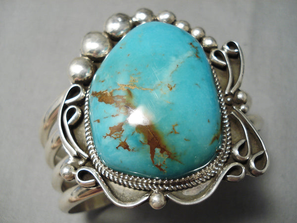 Amazing Jane Neton Vintage Native American Navajo Royston Turquoise Sterling Silver Bracelet