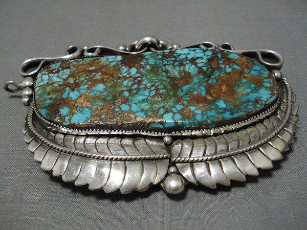 Best Vintage Native American Navajo Royston Turquoise Sterling Silver Buckle Pendant