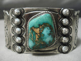 Museum Vintage Native American Navajo High Grade Royston Turquoise Sterling Silver Bracelet