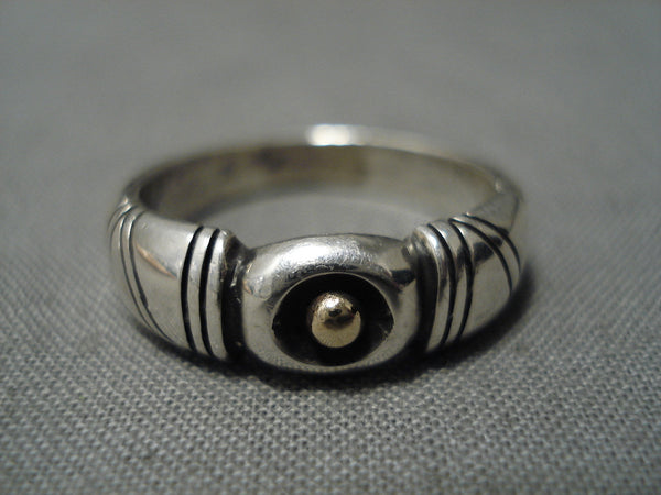 Incredible Vintage Native American Navajo 14k Gold John Begay Sterling Silver Ring