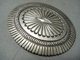 Extreme Detail Vintage Native American Navajo Henry Morgan Sterling Silver Buckle