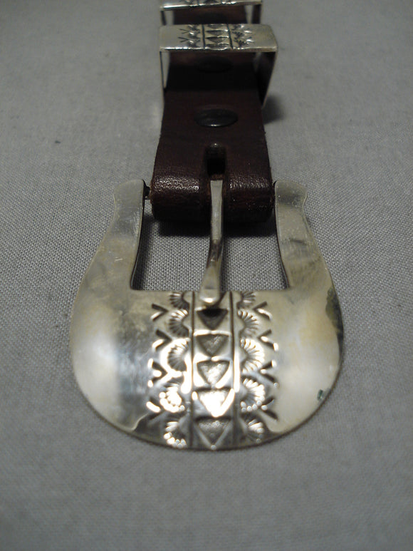 Vintage Navajo Buckle Sterling Silver Native American Old