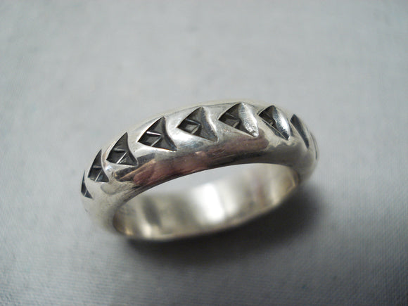 Important Sunny Reeves Native American Navajo Sterling Silver Ring