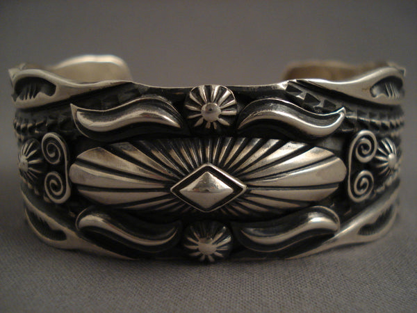 Advanced Native American Jewelry Silver Work Vintage Navajo Native American Jewelry Silver Bracelet