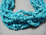 One Of Best Vintage Navajo Sky Blue Turquoise Native American Necklace Old