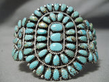 Important Vintage Native American Navajo Larry Moses Begay Turquoise Sterling Silver Bracelet