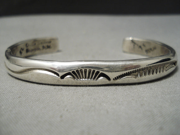 Important Vintage Native American Navajo Orville Tsinnie Sterling Silver Bracelet