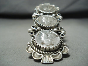 Biggest Native American Navajo Dime Sterling Silver Ring