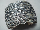 Native American Important Darrell Becenti (d.) Hand Repoussed Sterling Silver Bracelet