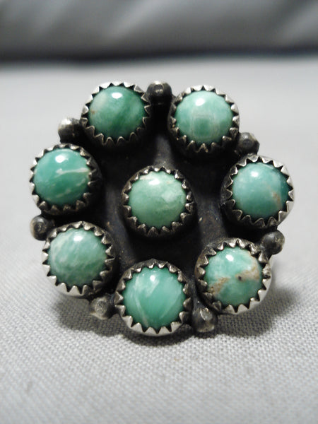 Marvelous Vintage Native American Navajo Royston Turquoise Sterling Silver Ring