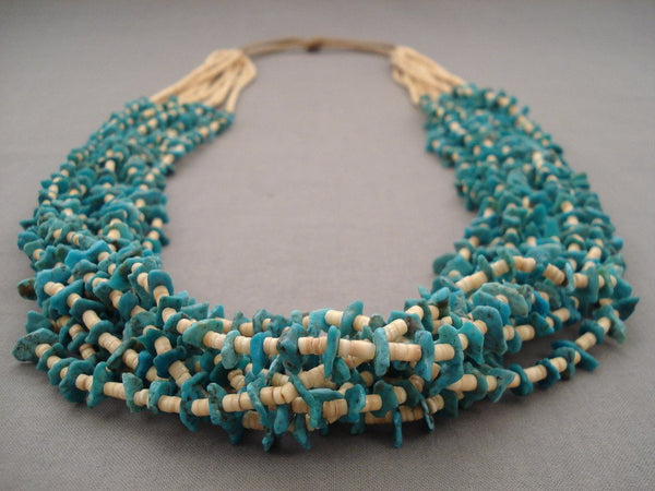 Absolutely Amazing Navajo Native American Jewelry jewelry 156 Grams Natural Blue Turquoise Heishi Necklace
