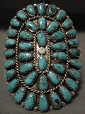 Absolutely Colossal Navajo Turquoise Native American Jewelry Silver Ring-Nativo Arts