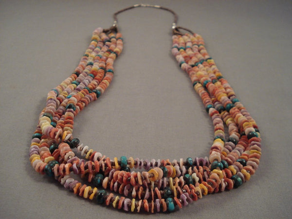 Absolutely Fabulous Important Yazzie Turquoise Shell Native American Jewelry Silver Necklace