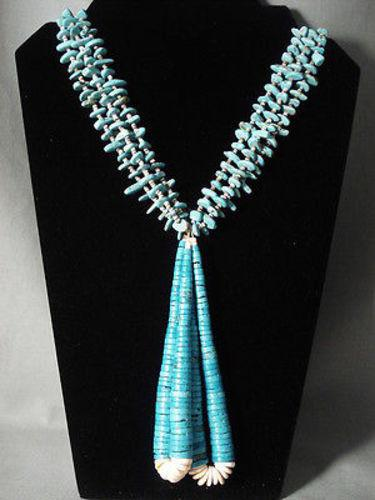 43 cm necklace necklace crochet Collier silver 925 turquoise stone nostalgically classy vintage USA SK1391