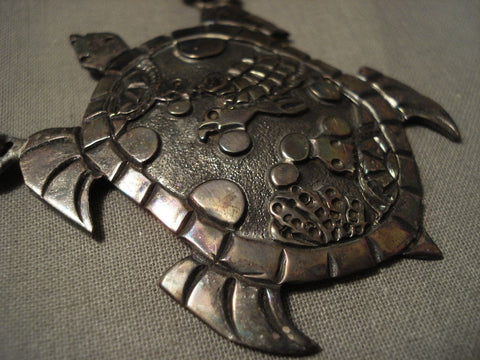 Absolutely Incredible Navajo Turtle Collection Longest Cone Native American Jewelry Silver Necklace-Nativo Arts