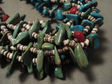 Absolutely Rare Navajo Native American Jewelry jewelry 'Half Green Blue' Natural Turquoise Necklace-Nativo Arts