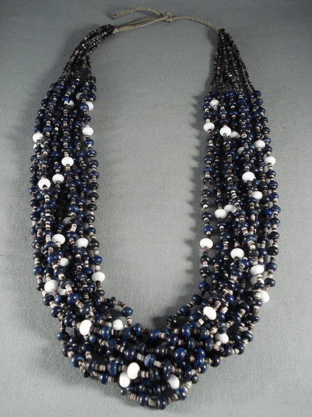 Absolutely Stunning Modernistic Lapis Navajo Native American Jewelry jewelry Pearl Necklace