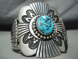 Native American One Of The Best Vintage Thomas Singer Turquoise Sterling Silver Bracelet