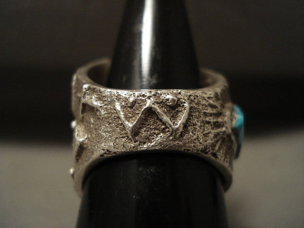Advacned Native American Jewelry Silver Work Navajo Turquoise Native American Jewelry Silver Ring