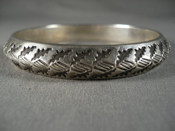 Advanced Native American Jewelry Silver Technique Handmade Vintage Navajo Native American Jewelry Silver Bangle Bracelet