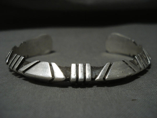 Advanced Native American Jewelry Silver Technique Vintage Navajo Native American Jewelry Silver Bracelet Old