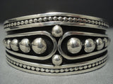 Advanced Native American Jewelry Silver Work Vintage Navajo Sterling Native American Jewelry Silver Bracelet Old Pawn-Nativo Arts