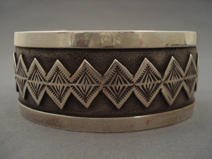 Advanced Native American Jewelry Silver Work Vintage Navajo 'Teepee Dream' Native American Jewelry Silver Bracelet-Nativo Arts