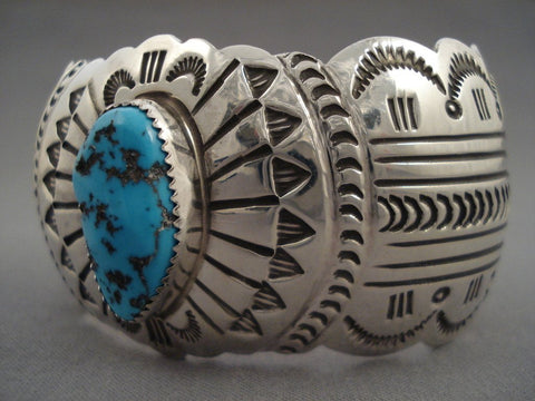 Advanced Native American Jewelry Silver Work Vintage Navajo Turquoise Native American Jewelry Silver Bracelet-Nativo Arts