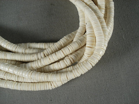 Advancved Shell Work Santo Domingo Heishi Necklace-Nativo Arts