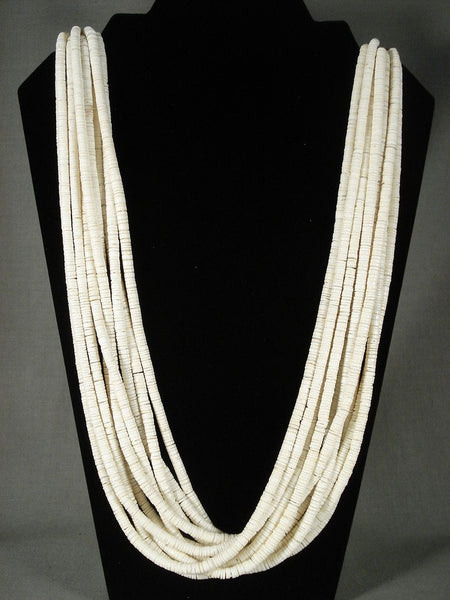 Advancved Shell Work Santo Domingo Heishi Necklace