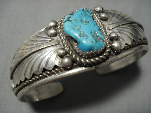 Tremendous Vintage Native American Navajo Betty Edmunds Sterling Silver Bracelet Old Cuff