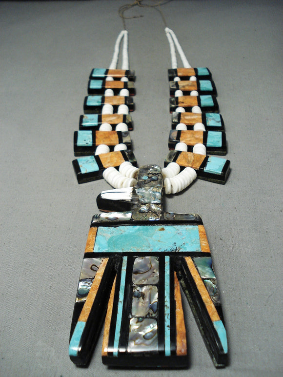 Native American One Of The Biggest Santo Domingo Inlay Necklace All Year!