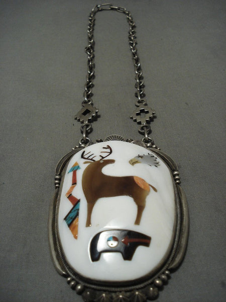 Alert! The Best Vintage Navajo Aaron Toadlena Turquoise Native American Jewelry Silver Necklace