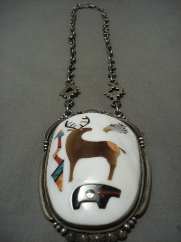 Alert! The Best Vintage Navajo Aaron Toadlena Turquoise Native American Jewelry Silver Necklace-Nativo Arts