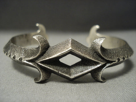 Amazing Aaron Anderson Sterling Native American Jewelry Silver Bracelet-Nativo Arts