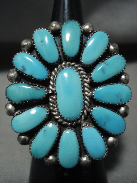Amazing Julie Lahi 'Natural Turquoise Vintage Zuni Native American Jewelry Silver Ring