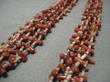 Amazing Vintage Navajo Native American Jewelry jewelry Coral Heishi Necklace Old-Nativo Arts