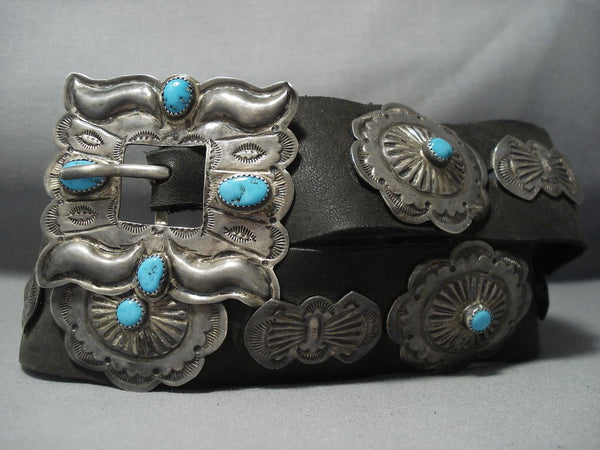 Amazing Vintage Navajo Sterling Native American Jewelry Silver Concho Belt Old Pawn