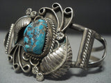 Amazing Vintage Navajo Turquoise Sterling Native American Jewelry Silver Rope Bracelet Old-Nativo Arts
