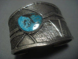 Amazing Vintage Navajo Turquoise Sterling Silver Native American Jewelry Bracelet-Nativo Arts