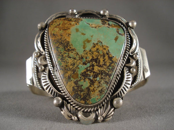 Awesome Guargantuan Navajo Royston Turquoise Native American Jewelry Silver Bracelet