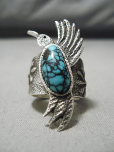 Best Native American Navajo Last Chance Turquoise Sterling Silver Hummingbird Ring