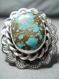 Magnificent San Felipe #8 Turquoise Mine Sterling Silver Ring Native American