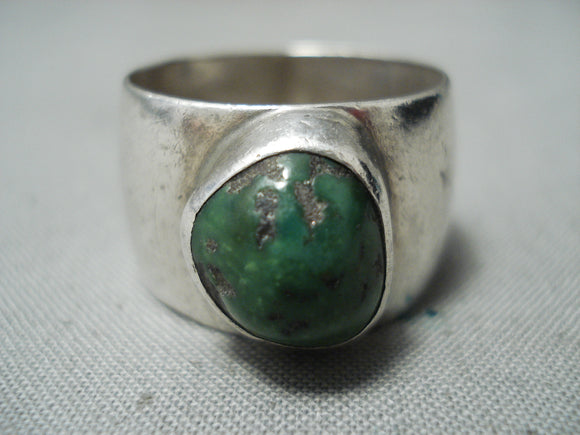 Astonishing Vintage Native American Navajo Cerrillos Turquoise Sterling Silver Ring Old