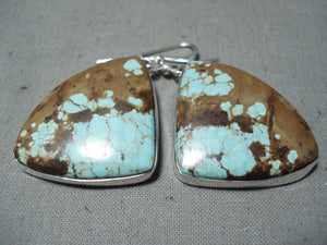 Unforgettable Navajo #8 Turquoise Mine Sterling Silver Earrings Native American