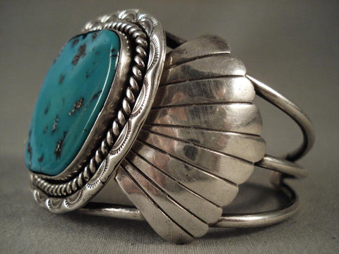 Big Old Navajo Native American Jewelry Silver Bracelet-Nativo Arts