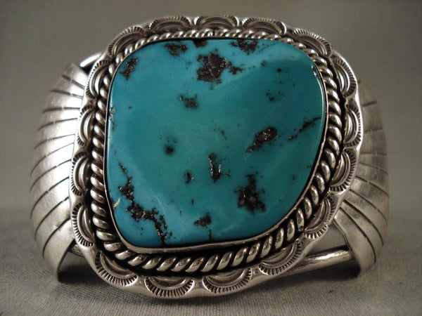 Big Old Navajo Native American Jewelry Silver Bracelet